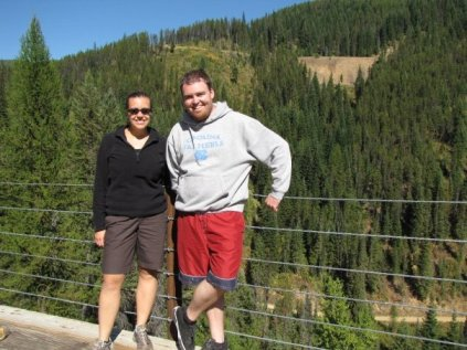 A couple on the route of the hiawatha