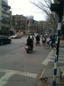 bike riders in china