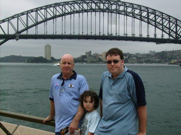 Standing in front of the Sydney Harbour Bridge