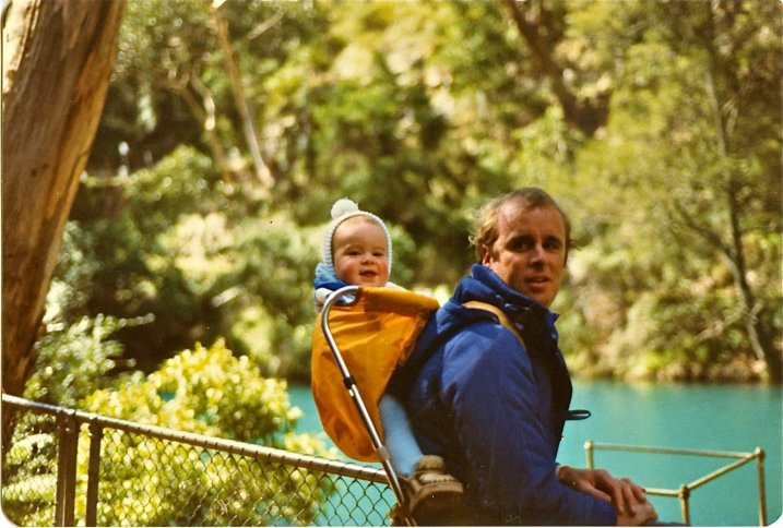 A much younger Aussie on the Road with his father