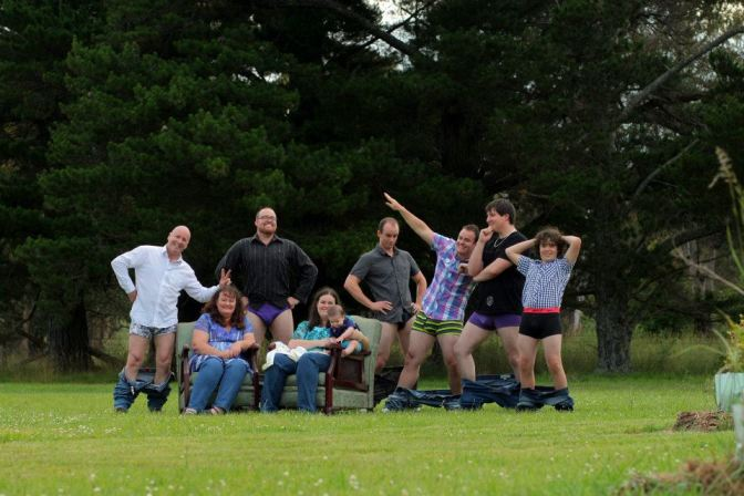 My family sans pants