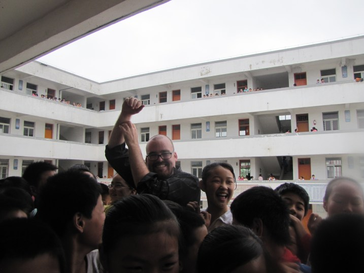 Mobbed by Chinese kids!