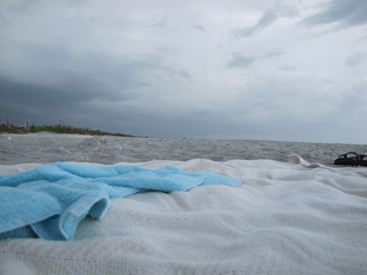 Beach towel on the sand