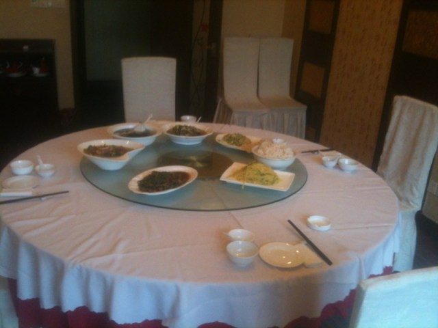 Chinese banquet in Lianyungang