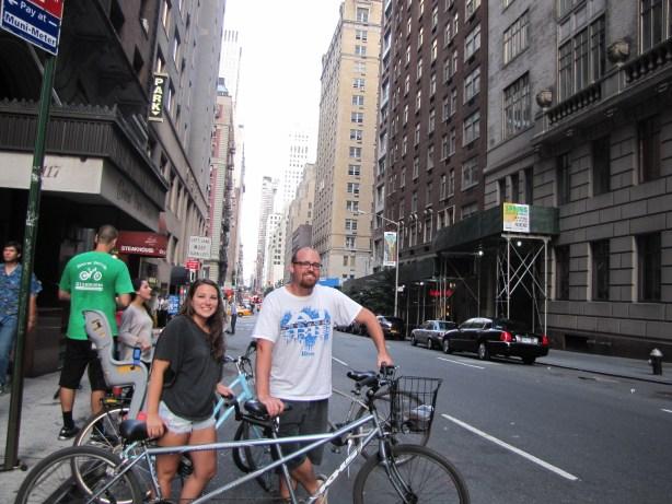 Tandem biking New York