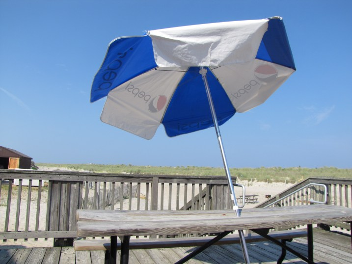 Umbrella on the beach at Asseateague