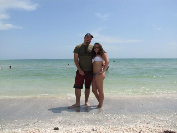 Posing on Sanibel Island in Florida