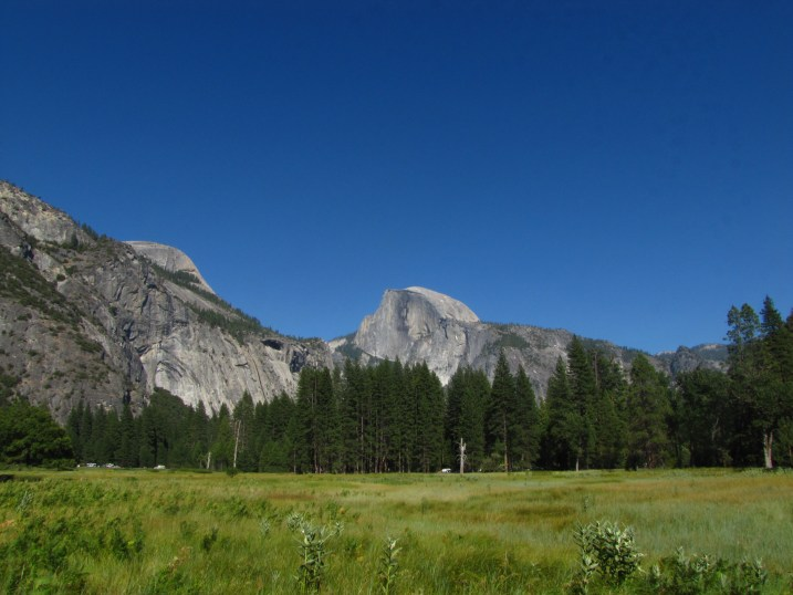 The famous Half Dome in Yosemite