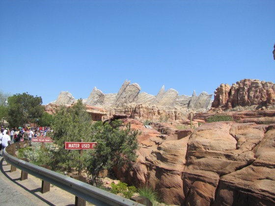 One of the most expensive rides in the world and you can see why! Radiator Springs Racers looked fantastic. Pity about the queue.