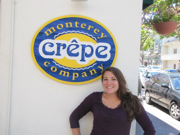 Heather is pleased as punch about the opportunity to eat some delicious savoury crepes