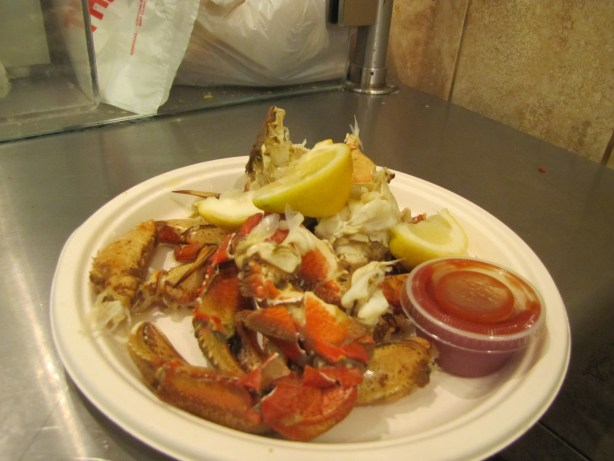 Heather's decadent serving of Dungeness Crab. Amazing.