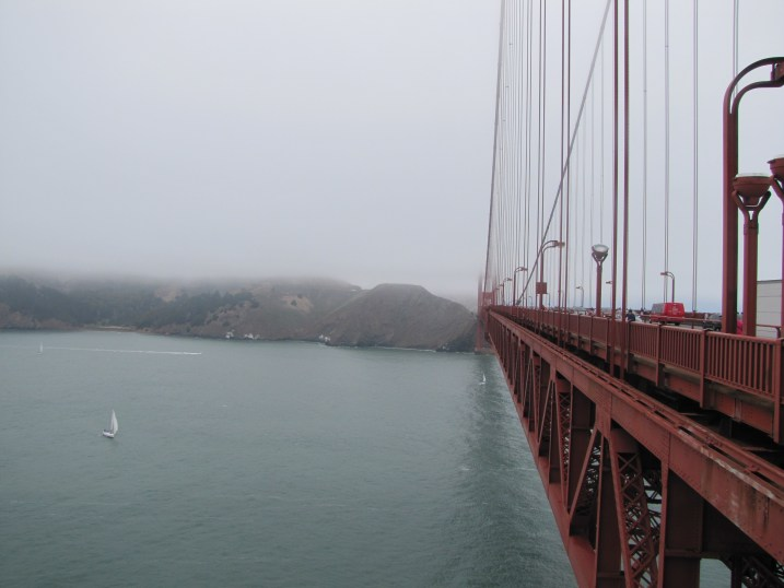 The view from the Golden Gate Bridge. Not particularly inspiring.