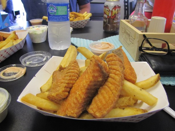 A fishy treat at Joe's Crab Shack in Tillamook