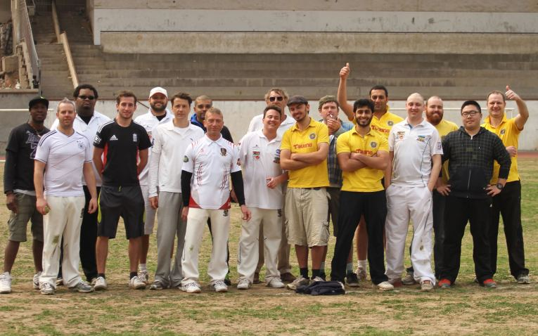 Playing cricket in China is one of my few exercise outlets in Nanjing. Photo by Landon Veregin.