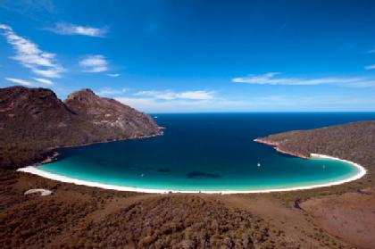 Wineglass Bay... almost too perfect to exist. Photo from SMH.