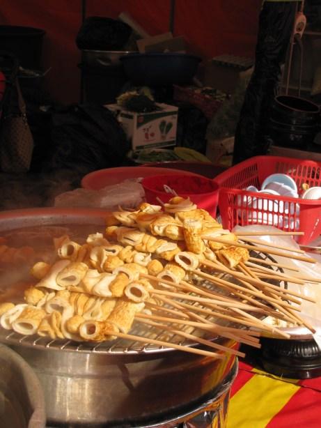 Delicious Korean street food.