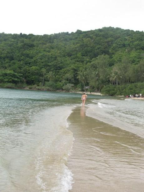 One of many beautiful beaches on Koh Phangan