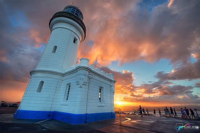 Byron Bay's famous lighthouse stands on one of Australia's easternmost points. Photo by Luke Zeme.