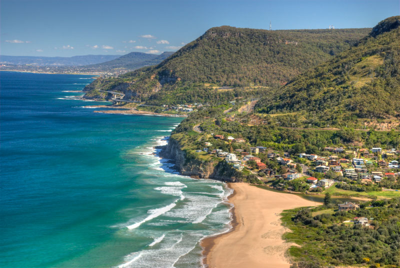 The stunning coastline of the Illawarra region.