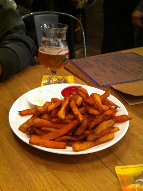 Brewsells' Belgian fries are amazing with an ice cold beer.