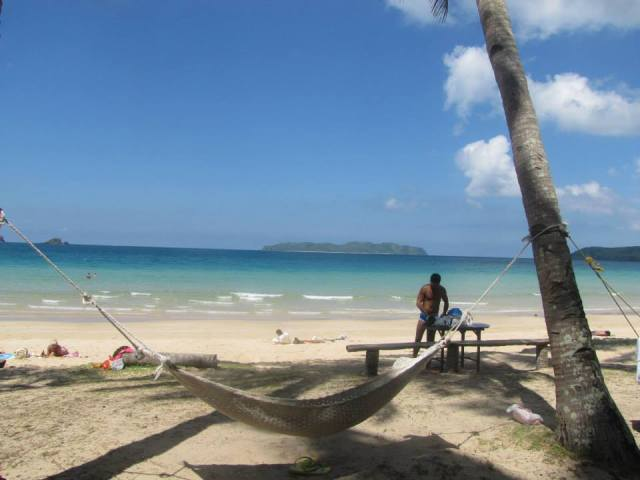 This hammock was my favourite part of Nacpan Beach. I may have caught a few Zzzzs here.