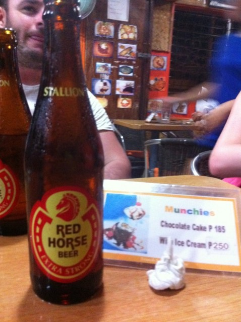 Red Horse became my poison of choice in the Philippines.