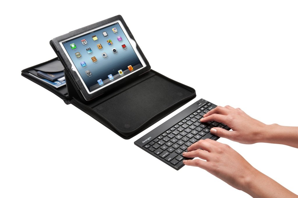 The ultra slim keyboard is lightweight, meaning you don't do yourself an injury carrying it around.