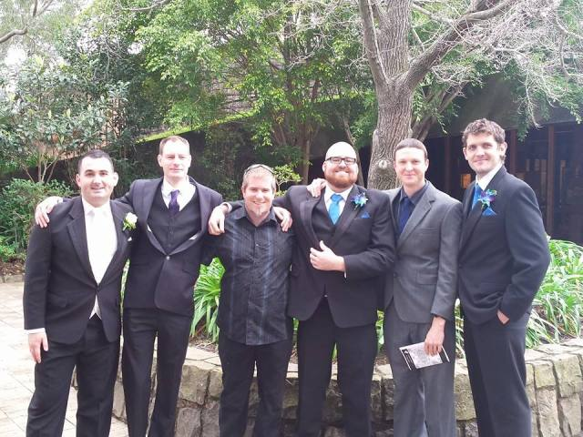 The high school gang reunited earlier this year for my best mate's wedding.