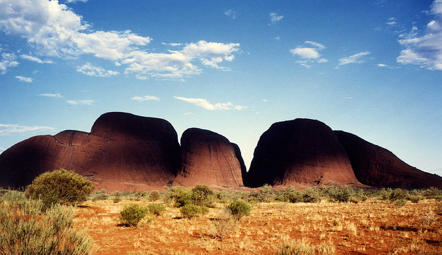 The Olgas are almost as stunning as their more famous neighbour, Uluru. Photo by Reto Fez.