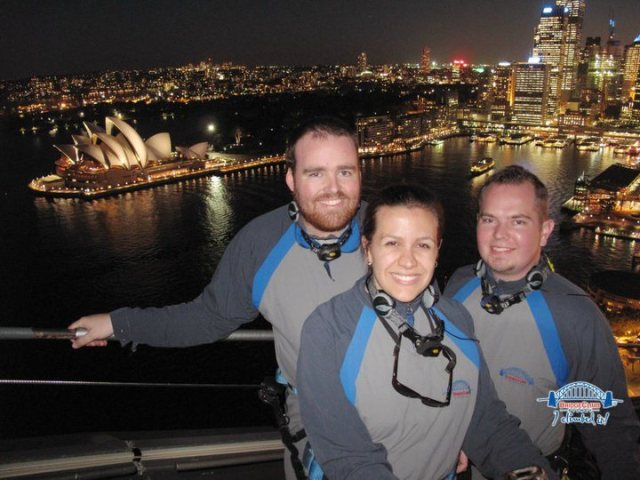 My friends and I atop the Sydney Harbour Bridge in 2010.
