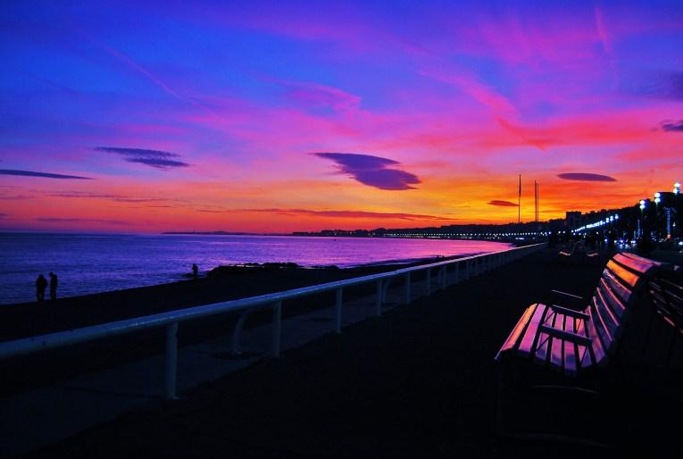 French Riviera sunset