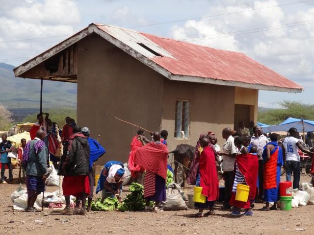 Masai village market in Tanzania