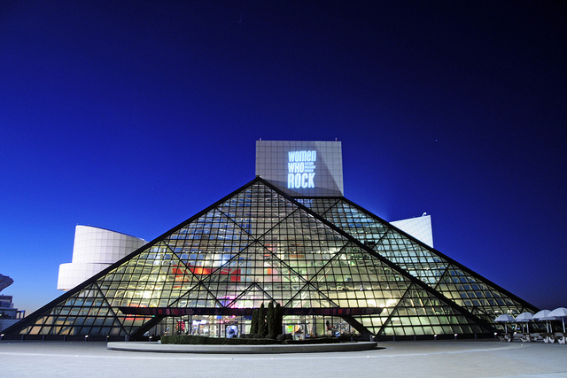 The Rock & Roll Hall of Fame is a must for lovers of rock music. Photo by Tony Fischer.