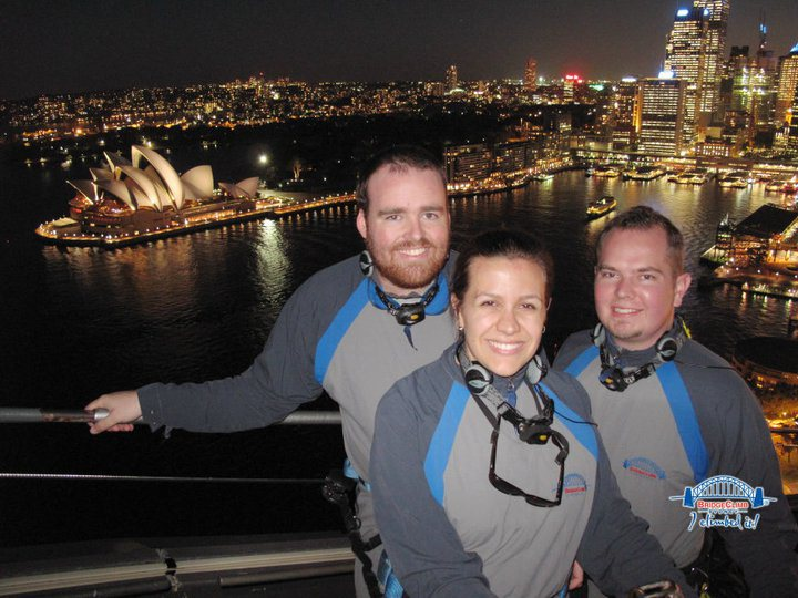 Myself and some friends enjoying the best view in Sydney.