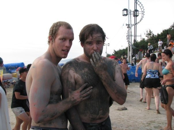 muddy boys at mud festival