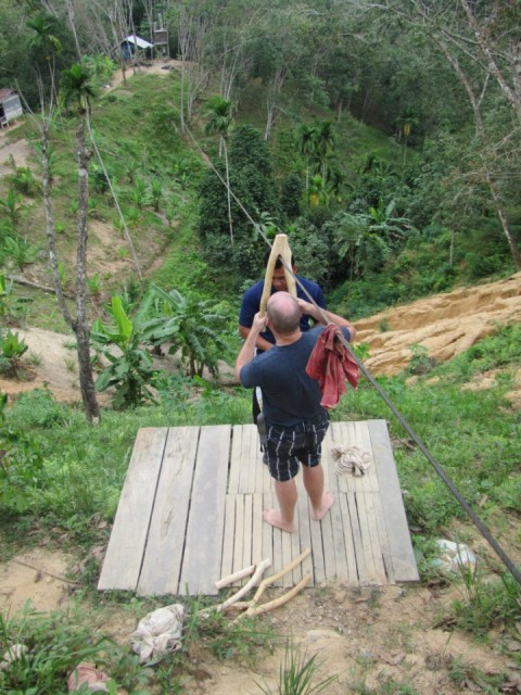 There was also the time I tried a zipline in Thailand with only a stick to slow me down...