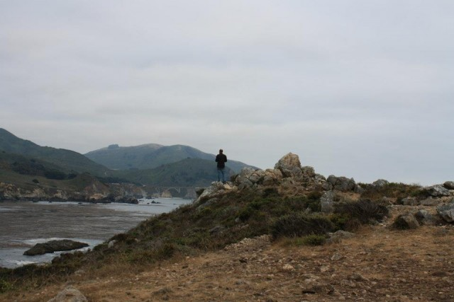 I pensively pose atop the cliffs of Big Sur. Such a beautiful drive.