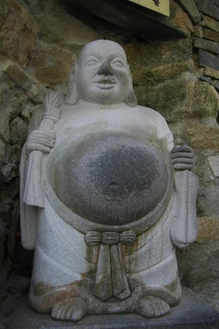 Rub the belly buddha busan south korea