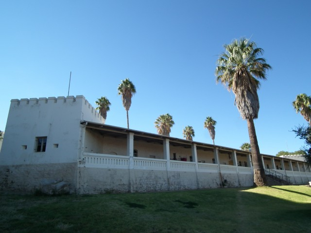 Alte Feste (Old Fortress) cuts a rather striking figure atop the hills overlooking modern WIndhoek.