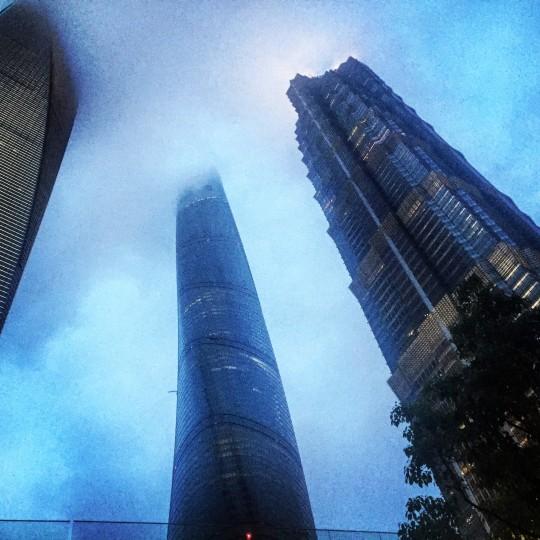 Ominous skies over Shanghai.