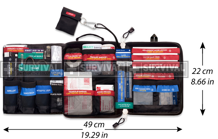 travel first aid kit full