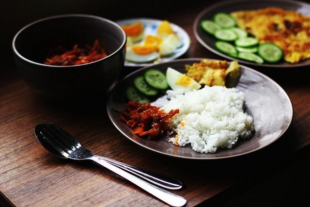 nasi lemak malaysian food