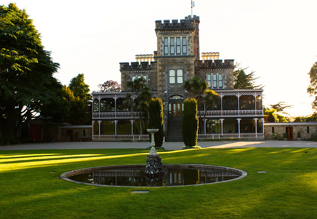 larnach castle dunedin new zealand