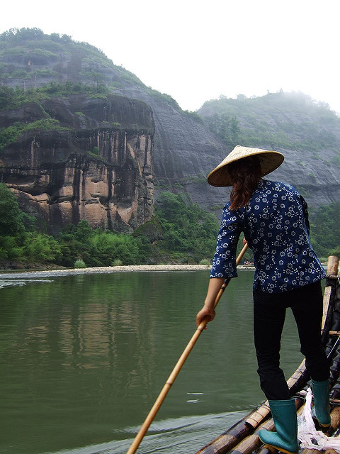wuyi nine bend river rafting