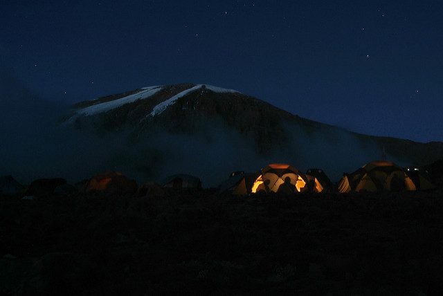 kilimanjaro climb camping accommodation