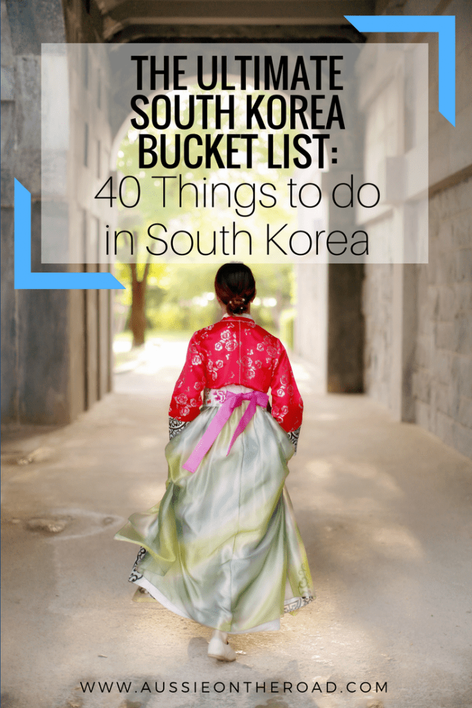 south korea bucket list