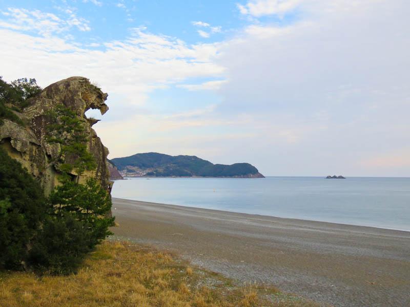 kumano kodo iseji lion's head rock