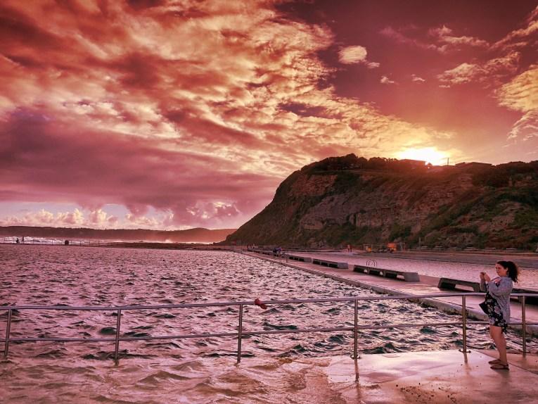 merewether beach newcastle sunset
