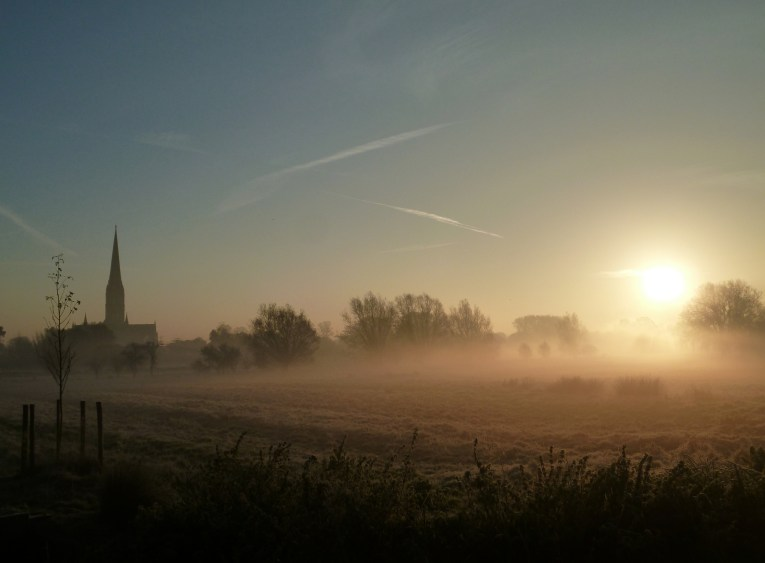 salisbury cathedral dawn uk road trip