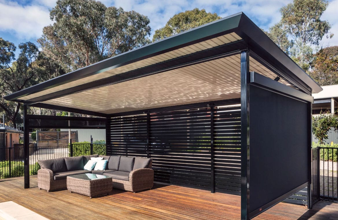 Flat Roof Stratco Patio | Aussie Patio Designs on Roof For Patio Ideas id=17308
